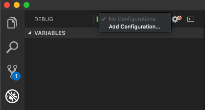 Add a new debugging configuration to VS Code