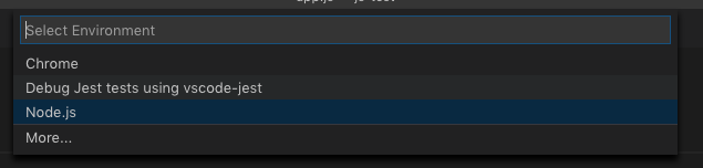 Select the Node.js
